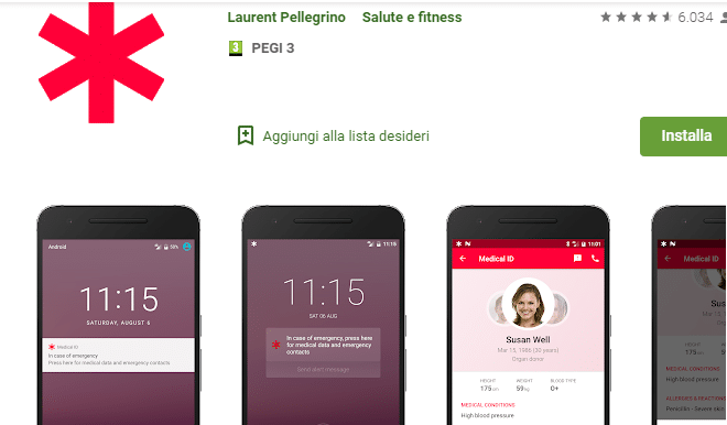 Medical Id dal Play Store