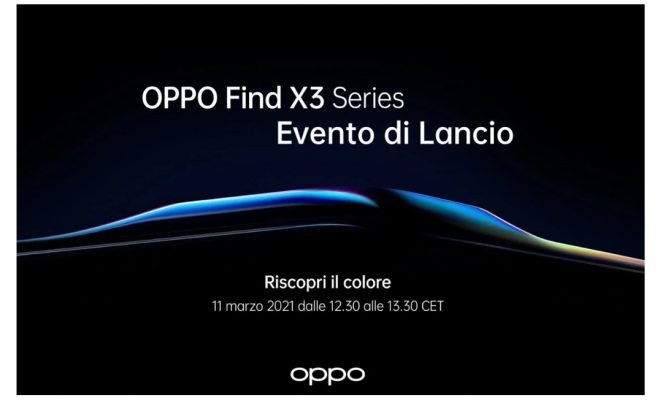 Oppo Find X3 Ufficiale